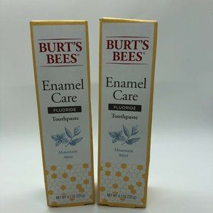 2  Burt's Bees Enamel Care Mountain Mint Toothpast